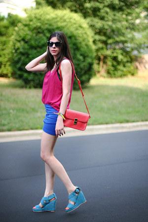 shampalove bag - tank asos top - romwe skirt - storets wedges