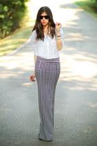 Ippolita accessories - asos heels - asos blouse - AGAIN skirt