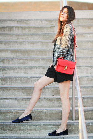 velvet Cooperative loafers - Zara blazer - diy boy meets girl shorts