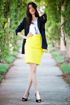 Thierry Mugler skirt - vintage blazer - Chanel bag - sam edelman heels