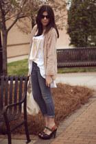 twiggy karma James Jeans jeans - Leyendecker cardigan - tank Malibu Native top -