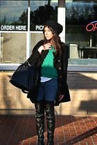 Topshop boots - vintage coat - twiggy karma James Jeans jeans - asos hat - Given