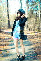 Chambray Romper and Cowboy boots