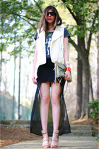 MINUSEY skirt - clutch Rebecca Minkoff bag - Ray Ban sunglasses