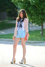 Pink-blazer-j-crew-shorts-aldo-heels-brixton-t-shirt