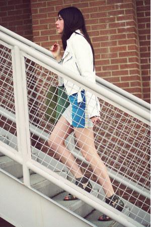 leather jacket Shop Goldie jacket - Motel Rocks dress - Danielle Nicole bag