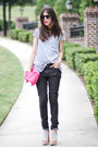 Skinny-jeans-superfine-jeans-romwe-shirt-clutch-romwe-bag