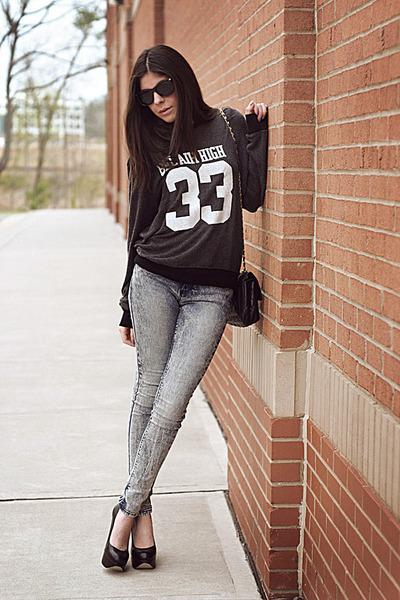 jumper wildfox couture sweater - BDG jeans - Aldo heels