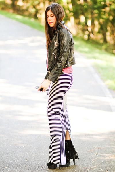maxi skirt AGAIN skirt - leather studded Modekungen jacket