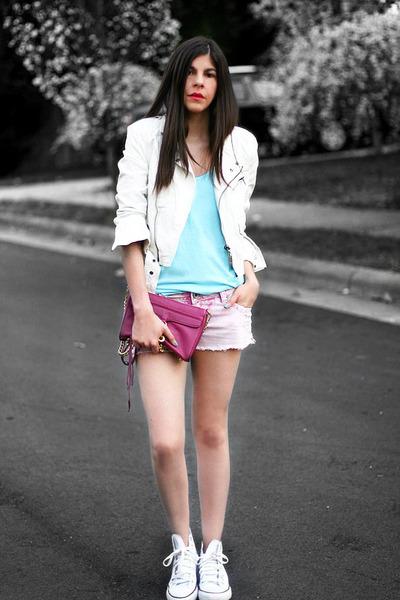 LA Made top - ShopGoldie jacket - Rebecca Minkoff bag - Converse sneakers