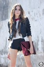 White-romwe-shirt-crimson-asos-bag-black-sequins-marisa-shorts