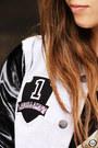 Silver-labellamafia-coat-black-romwe-t-shirt-black-goodnight-macaroon-skirt