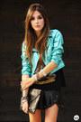 Black-kill-city-t-shirt-turquoise-blue-labellamafia-jacket