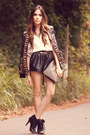 Black-romwe-coat-ivory-labellamafia-shirt-black-awwdore-shorts
