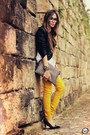 Black-romwe-bag-black-kafé-bracelet-mustard-romwe-pants