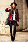 Brick-red-choies-coat-ivory-kodifik-jumper