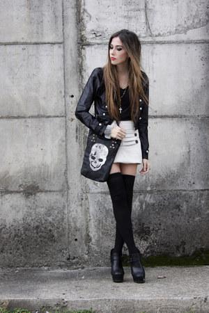 black Labellamafia jacket - white Morena Raiz skirt