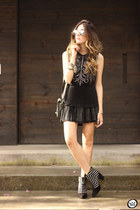 black Lez a Lez skirt - light yellow zeroUV sunglasses - black Lez a Lez top