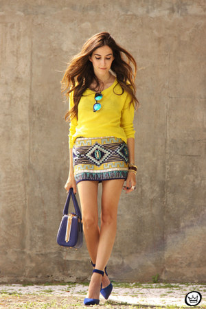 yellow iclothing skirt
