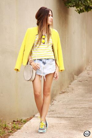 yellow Vert shorts