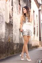 white Viber dress