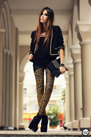 black Labellamafia leggings - black Douglas Harris t-shirt