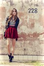Black-romwe-coat-brick-red-chicwish-skirt