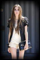 lace Chicwish shorts - leather jacket Brech da Neide jacket