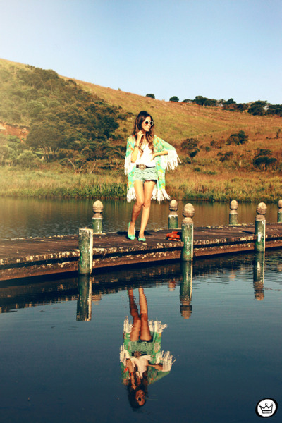 aquamarine Love Luxo cardigan