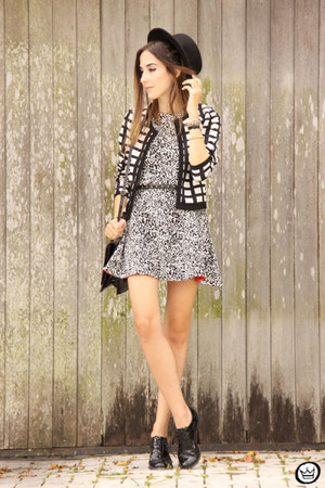 black Sly Wear dress - black OASAP hat - black Dafiti bag