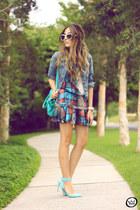 sky blue Displicent dress
