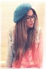 Turquoise-blue-zara-hat