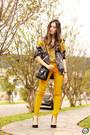Yellow-lez-a-lez-blazer-yellow-lez-a-lez-top-yellow-romwe-pants