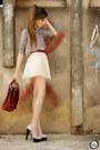 Brick-red-late-manta-bag-light-pink-minusey-skirt-silver-xiquita-bakana-top