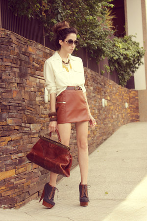 burnt orange Modaki skirt