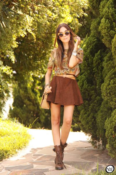 cream Dafiti bag - brown Dutmy skirt - mustard meemee top