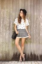 black Dafiti bag - white romwe skirt - gold Marina Zardo necklace