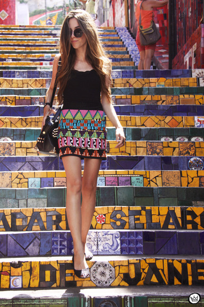 Carlota Costa skirt - romwe sunglasses - Kafé bracelet