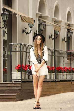 white Shoulder romper
