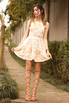 cream Fashion Frenzzie dress - bronze Tanara sandals