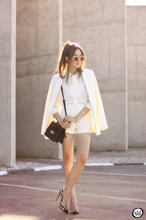 ivory Decote shirt - ivory Decote shorts