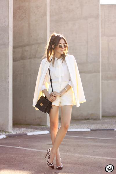 ivory Decote shirt - ivory Decote shorts