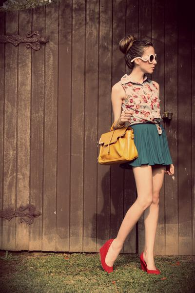 Morena Raiz shirt - romwe bag - Morena Raiz skirt