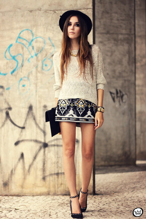 black iclothing skirt - silver Antix jumper