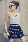 Eggshell-choies-sunglasses-black-romwe-skirt