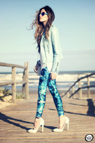 sky blue Lovelysally leggings
