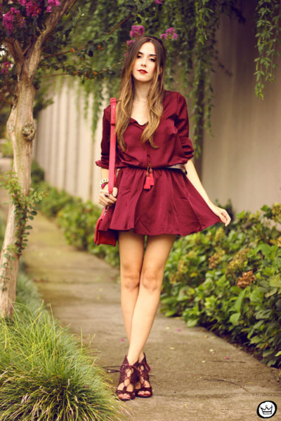 ruby red Amaro dress - ruby red Dafiti bag - ruby red Esdra heels