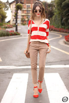 eggshell Gap jumper - tan Gap pants