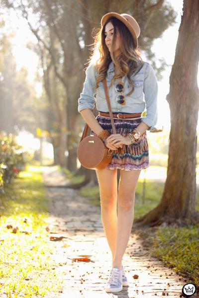 silver levis shirt - light orange Slywear skirt