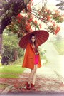 Hot-pink-brech-da-neide-dress-orange-romwe-cape